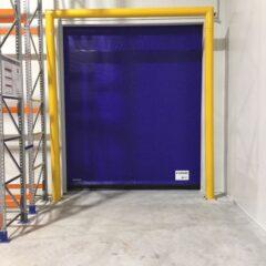Rápida de congelación con cortina de aire